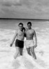 Bellows Field Beach Party - Pearl Harbor HI.  Tony Lupacchino and Robbie (Jack) Robinson, surf buddies!