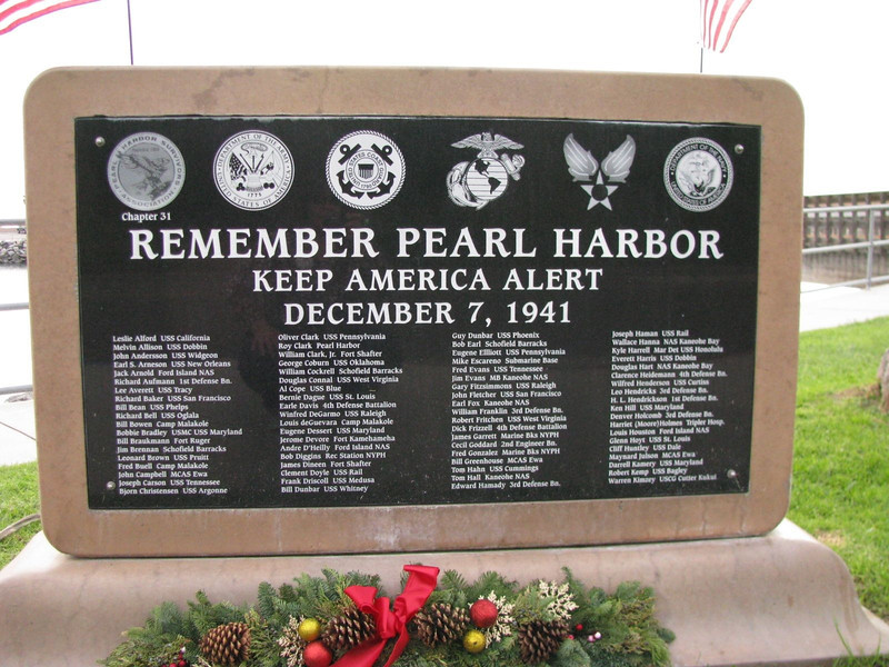 Remember Pearl Harbor Marker