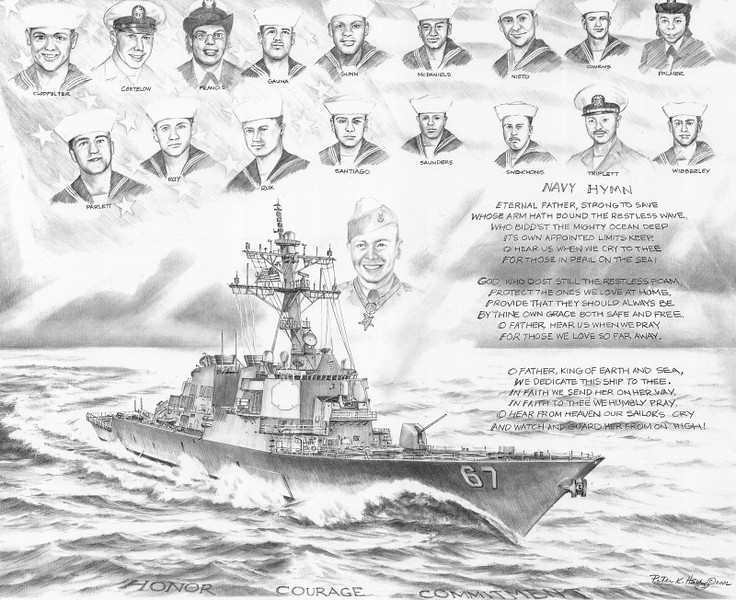 USS COLE DDG-67 - HONOR, COURAGE, COMMITMENT<br /> <br /> I've included the attacks on The United States of America by Al Qaeda of the USS COLE DDG-67 in 2000, and of the 1993 and 2001 attacks on the World Trade Center and Pentagon and Shanksville PA with the attack on Pearl Harbor by the Japanese as the major attacks to ALWAYS REMEMBER AND NEVER FORGET. <br /> <br /> God Bless America and all of those who died defending and protecting her, and to all of those who cherished and loved her!