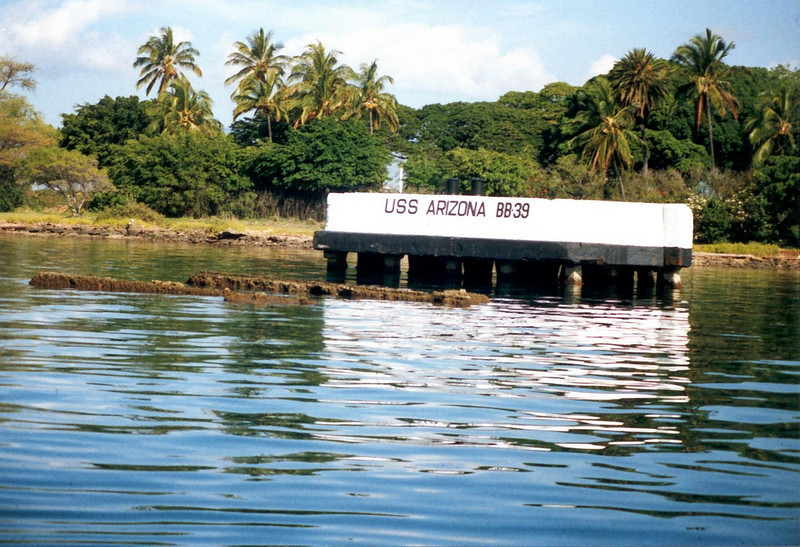 USS ARIZONA BB-39 Memorial at Pearl Harbor HI