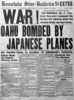 Honolulu Star-Bulletin First Extra Edition on December 7, 1941.