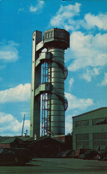 Sub Base Pearl Harbor - Escape Training Tower.  Photo possibly late 1940's, early 1950's (?).