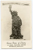 "USNTC BAINBRIDGE - ""Human Statue of Liberty"" Display.  1940's Photo."