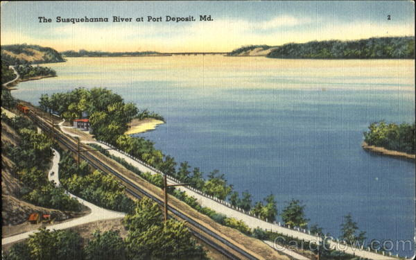 Post Card - The Susquehanna River At Port Deposit