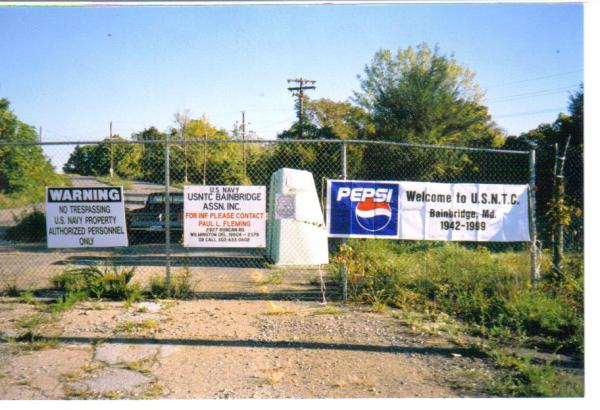USNTC BAINBRIDGE Main Gate Photo taken in October, 1999.