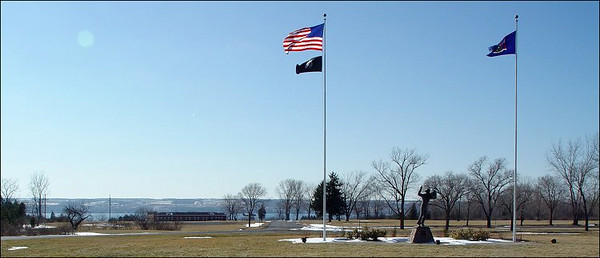 Sampson Naval Museum, Romulus NY  - Entrance circle to Sampson State Park.