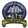 Earlier shoulder patch of USNTC BAINBRIDGE, MD.