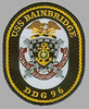 Emblem of USS BAINBRIDGE DDG 96.    Competence - Dedication - Discipline.