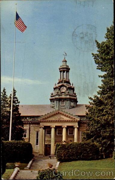 Post Card - Tome Memorial Hall, U. S. Naval Training Center Bainbridge