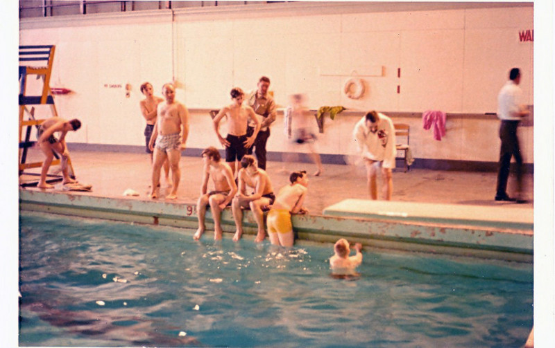 USNTC BAINBRIDGE - Boy Scouts in BAINBRIDGE Swimming Pool.