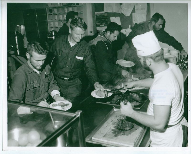 US NAVAL Station Byrd Antartica - Chow line.