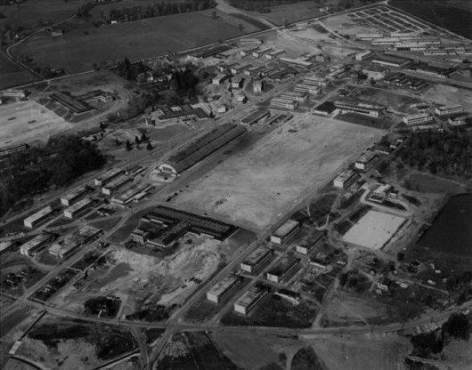 Aerial View of USNTC BAINBRIDGE 4th Regiment Grinder (Camp Barney).