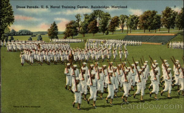 USNRTC BAINBRIDGE - 1945 Dress Parade.
