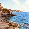 Rocky beach at Moutsouna, Naxos, Greece