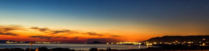 Long exposure shot towards Mikri Vigla, from Aliko beach, Naxos