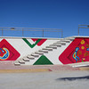 Vibrant Huichol Indigenous Designs Decorate The Malecon In La Penita