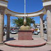 A Large Monument At The Entrance Of The Pueblo