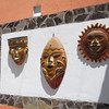 Masks Adorn One Of The Newer Hotels In Los Ayala