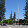 The Plaza de Armas Featuring Some Very Tall Pines