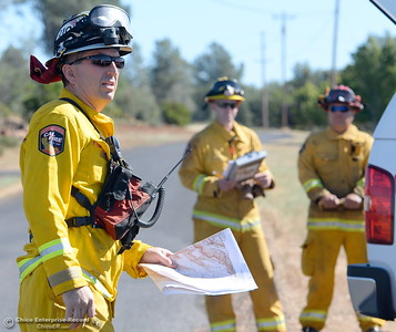 during a fire training simulation at the Neal Indident drill in Paradise, Calif. Wed. June 22, 2016. (Bill Husa -- Enterprise-Record)