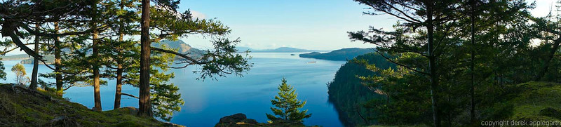 From Mount Menzies,  Pender Island,  BC