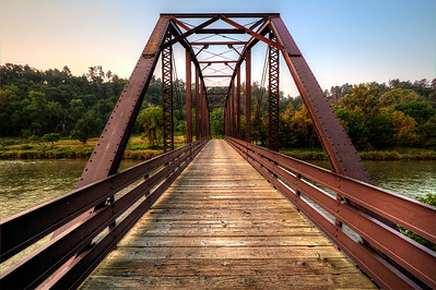Bridge over the Niobrara River in Smith Falls State Park in Nebraska