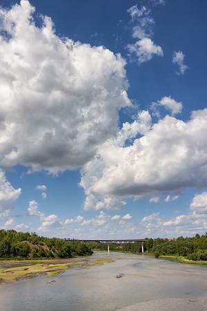 View of the NIobrara River from Bryan Bridge
