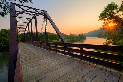 Bridge over the Niobrara River in Smith Falls State Park in Nebraska