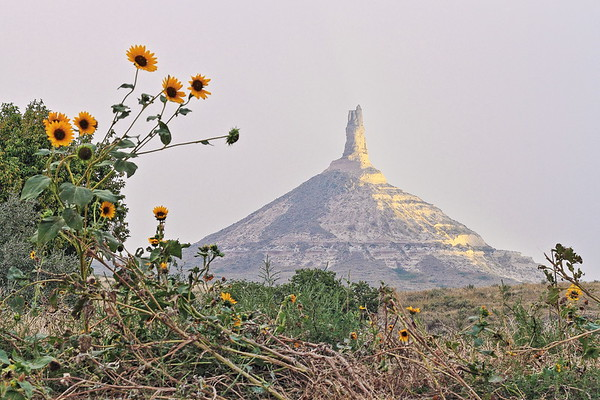 Chimney Rock National Historic Site near Scottsbluff Nebraska