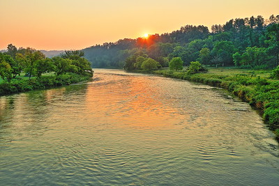 Sunset over the Niobrara River in Smith Falls State Park