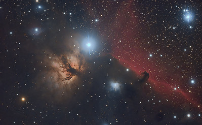 The Flame and Horsehead Nebula