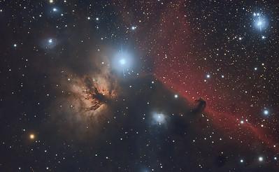 The Flame and Horsehead Nebula