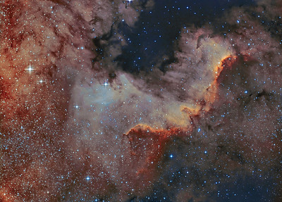 Wall Region of North American Nebula
