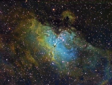 The Eagle Nebula in HST Narrowband