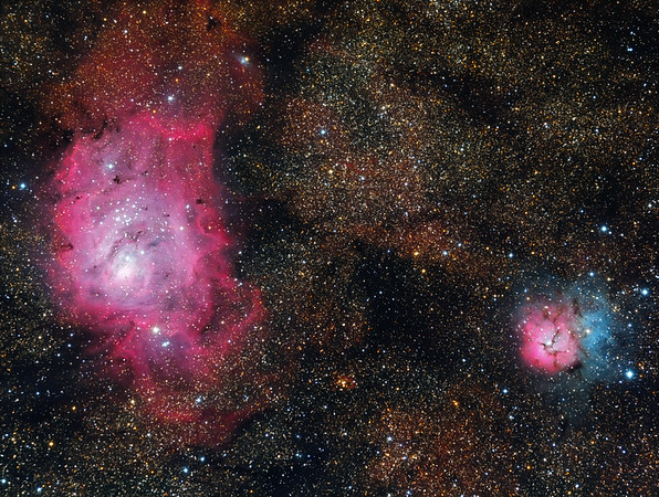 Lagoon Nebula (M8) & Trifid Nebula (M20) Area
