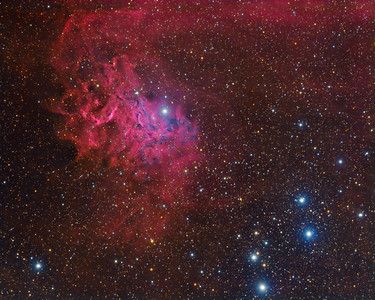 The Flaming Star Nebula - IC 405.