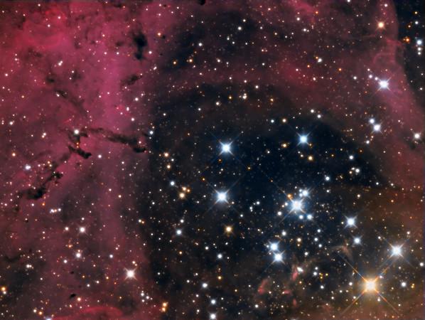 The heart of the Rosette Nebula