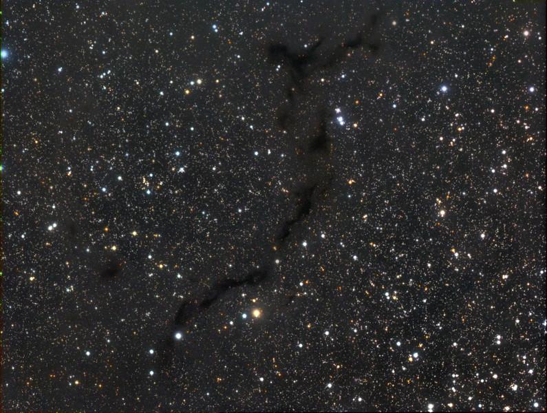 Barnard's 150 Dark Nebula in Cepheus