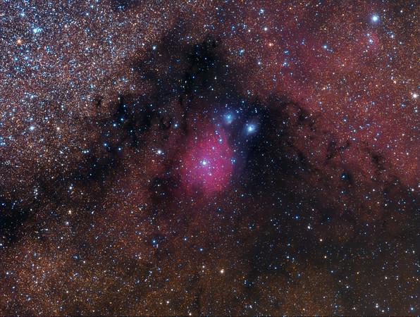 IC1283-4, NGC6589-90, vdB118 -119 in Sagittarius