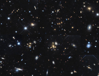 background galaxies collage
