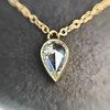 0.58ct Pear Rose Cut Diamond Pendant 1