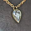 0.58ct Pear Rose Cut Diamond Pendant 27