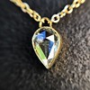 0.58ct Pear Rose Cut Diamond Pendant 8