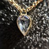 0.58ct Pear Rose Cut Diamond Pendant 26
