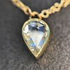 0.58ct Pear Rose Cut Diamond Pendant 24
