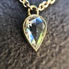 0.58ct Pear Rose Cut Diamond Pendant 28