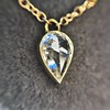 0.58ct Pear Rose Cut Diamond Pendant 23