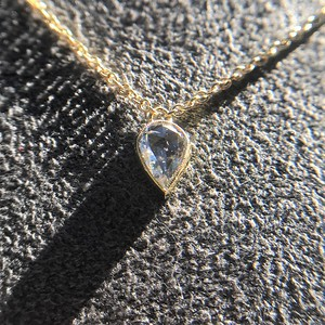 0.58ct Pear Rose Cut Diamond Pendant