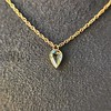 0.58ct Pear Rose Cut Diamond Pendant 15