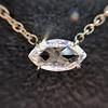 0.78ct Marquise Rose Cut Diamond Pendant 23